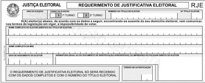 Como justificar o voto