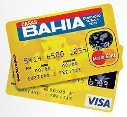 Segunda via do cartão de crédito Casas Bahia