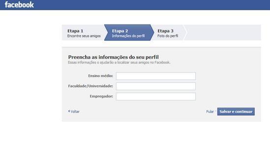 Como criar conta no Facebook 3