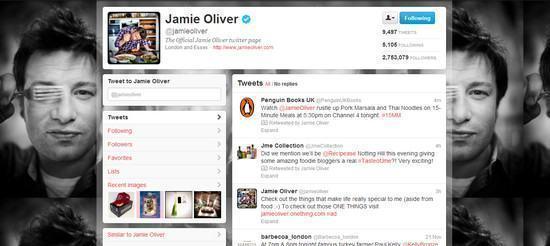 Twitter do Jamie Oliver