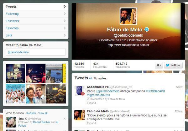 Twitter do Padre Fábio de Melo