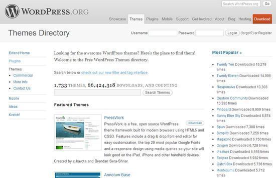 Onde baixar temas grátis para o WordPress
