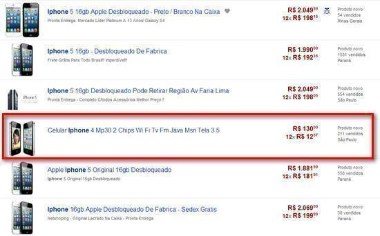 iPhone no Mercado Livre