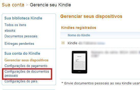 Como enviar livros para o Kindle por email