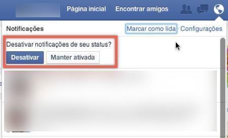 Como desativar notificações do Facebook