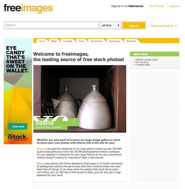 Onde encontrar imagens grátis para sites e blogs