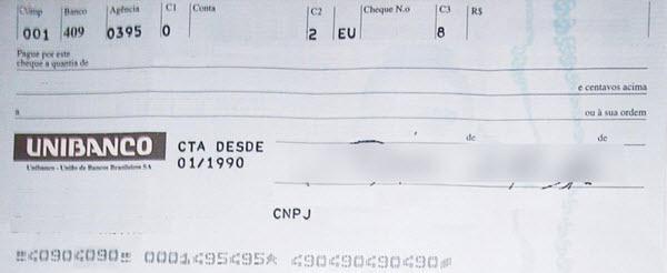Motivo de devolução de cheques