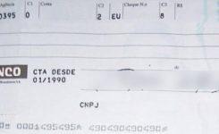 Motivos de devolução de cheques