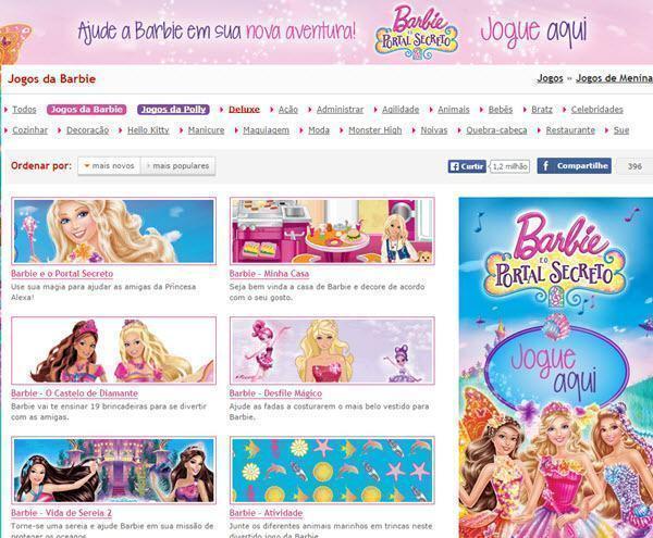 Sites com jogos da Barbie