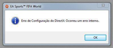 Erro DirectX instalar aplicativos origin