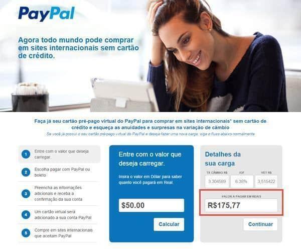 Como carregar o PayPal com boleto bancário