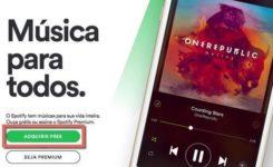 Como criar uma conta no Spotify para ouvir música grátis