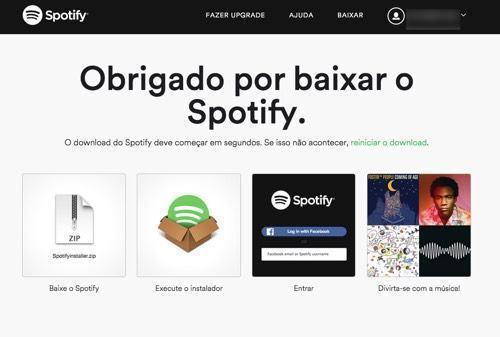 Como criar uma conta no Spotify