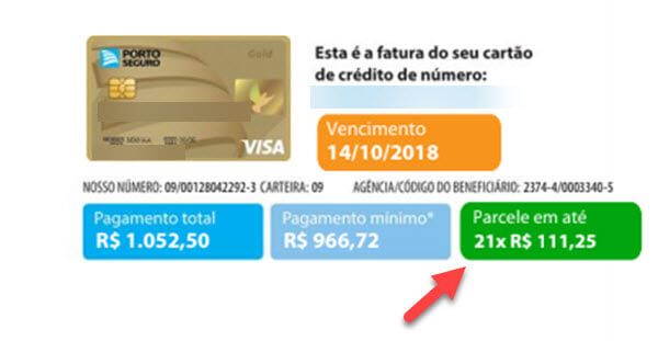 Parcelamento de fatura de cartão de crédito
